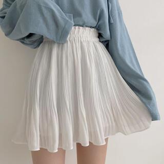 スタイルナンダ(STYLENANDA)の【予約商品】《3カラー》Aライン フリル ルーズスカート 韓国ファッション(ミニスカート)