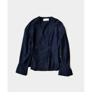 mame - mame kurogouchi Cotton Double Cloth Top