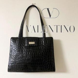ヴァレンティノガラヴァーニ(valentino garavani)のヴァレンティノ トートバッグ クロコダイル 型押 ハンドバッグ レザー レトロ(トートバッグ)