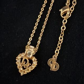 Christian Dior - クリスチャンディオール ハードトップロゴストーンネックレス ゴールド 金