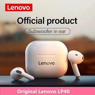 【新品】ワイヤレスイヤホン Lenovo LP40 [ホワイト]