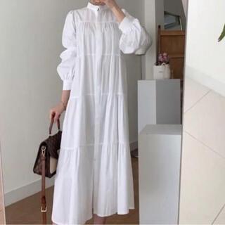 すぐ発送♡シャツドレス ワンピース ティアード シャツワンピース