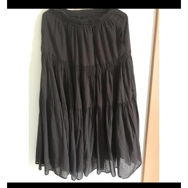 IENA(イエナ)のイエナ コットンボイルティアードスカート グレー38 レディースのスカート(ロングスカート)の商品写真