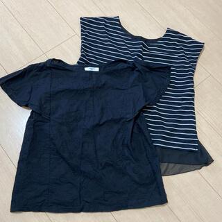 サマンサモスモス(SM2)のカットソー トップス M? ブラック(Tシャツ(半袖/袖なし))