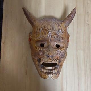 木彫り 般若お面(彫刻/オブジェ)