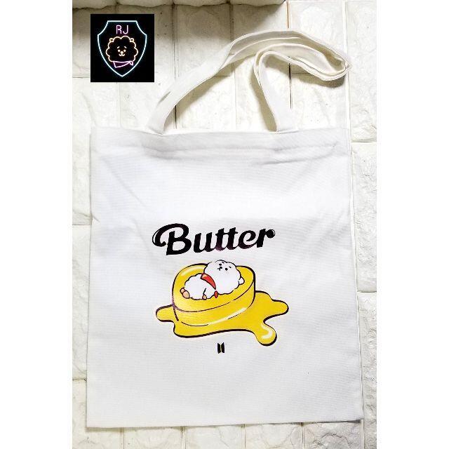 【BTS】Butter トートバッグ(白)RJ エンタメ/ホビーのタレントグッズ(アイドルグッズ)の商品写真