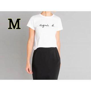 agnes b. - アニエスベー agnes b  Tシャツ ロゴTシャツ M レディース  白