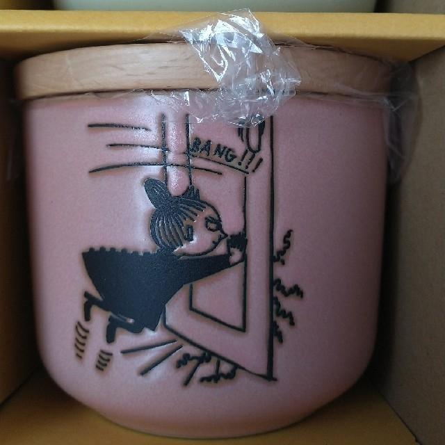 Little Me(リトルミー)のレア ムーミン 陶器 容器 セット 木 キャニスター インテリア/住まい/日用品のキッチン/食器(容器)の商品写真