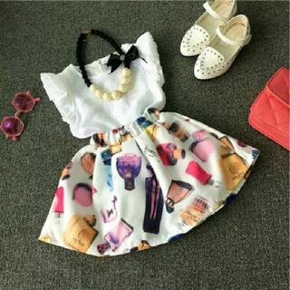 韓国子供服  パフューム 110 香水 柄