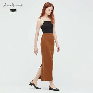 UNIQLO - ユニクロマメクロゴウチエアリズムコットンスリットスカート サイズL