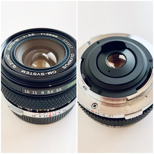 OLYMPUS(オリンパス)の【2点セット】OLYMPUS G.ZUIKO Auto-W 28mm OM-LM スマホ/家電/カメラのカメラ(レンズ(単焦点))の商品写真