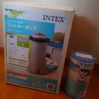【新品未使用】INTEXフィルターポンプ&別売交換用フィルター1個セット