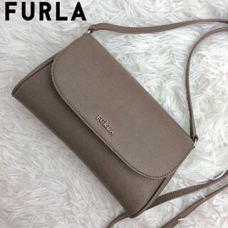 Furla - 美品✨FURLA ショルダーバッグ レザー ブラウン sabbia
