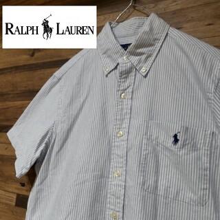 Ralph Lauren - ラルフローレン  ワンポイントロゴ刺繍 ストライプBDシャツ