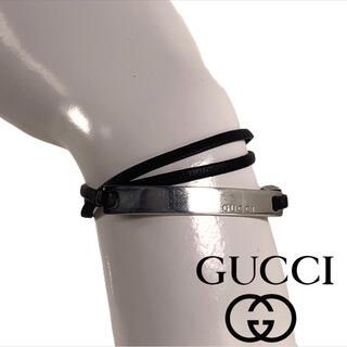 グッチ(Gucci)の✨美品✨ GUCCI レザー ブレスレット チョーカー(ブレスレット/バングル)