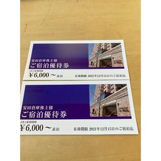 2枚 安田倉庫株主優待券 ラピスタ函館ベイホテル(その他)