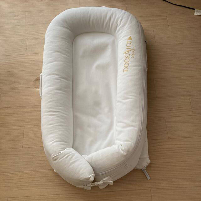 ドッカトット デラックス プラス 0~8カ月用 ベビーベッド ホワイト キッズ/ベビー/マタニティの寝具/家具(ベビーベッド)の商品写真