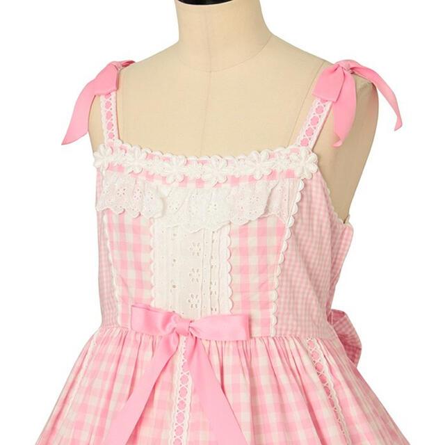 Angelic Pretty(アンジェリックプリティー)のAngelic Pretty 避暑地の少女ジャンパースカート レディースのワンピース(ひざ丈ワンピース)の商品写真