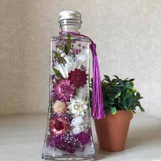 ハーバリウム 仏花 1本でも映えるボード瓶(その他)