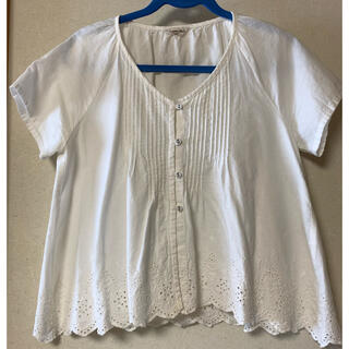 サマンサモスモス(SM2)のSM2 羽織ブラウス オフホワイト(シャツ/ブラウス(半袖/袖なし))