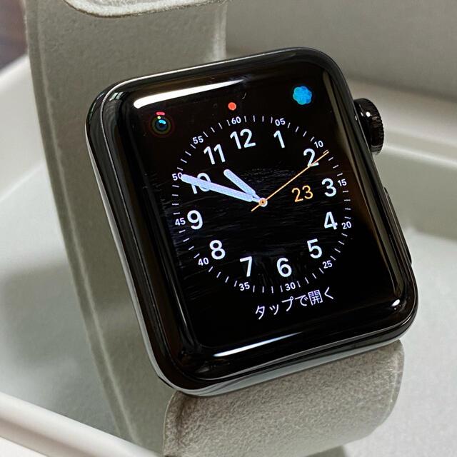 Apple Watch(アップルウォッチ)のApple Watch Series 2 38mm スペースブラックステンレス スマホ/家電/カメラのスマートフォン/携帯電話(その他)の商品写真