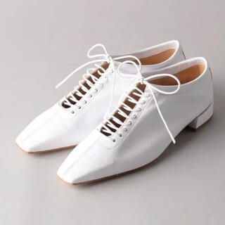 ファビオルスコーニ(FABIO RUSCONI)のFABIO RUSCONI Lace up FLT 36 ホワイト(ローファー/革靴)