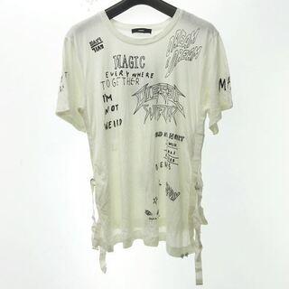 ディーゼル(DIESEL)のディーゼル DIESEL サイドベルト プリント Tシャツ XS(カットソー(半袖/袖なし))