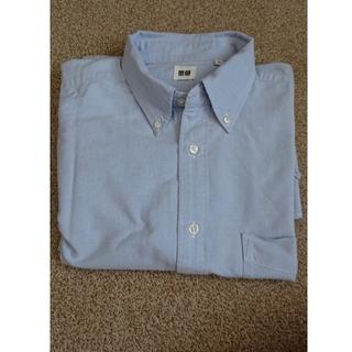 ユニクロ(UNIQLO)のUNIQLO メンズLサイズ 長袖シャツ(ブルー)(シャツ)