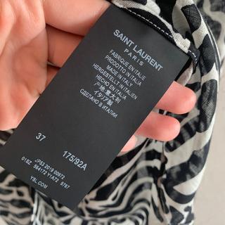 Saint Laurent - staint laurent paris ゼブラプリントシャツ 37 美品