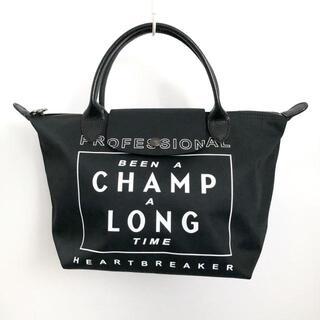 ロンシャン(LONGCHAMP)のロンシャン ハンドバッグ美品  - 黒×白(ハンドバッグ)
