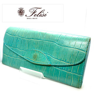 Felisi - 【Felisi】フェリージ 954 クロコ型押し レザー 長財布 グリーン