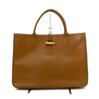 ロンシャン(LONGCHAMP)のロンシャン ハンドバッグ美品  - ブラウン(ハンドバッグ)