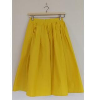 テチチ(Techichi)のテチチ 黄色 イエロー フレアスカート 新品 未使用 タックギャザースカート(ひざ丈スカート)