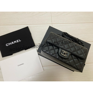 CHANEL - シャネル ミニフラップバッグ  ブラックメタル金具