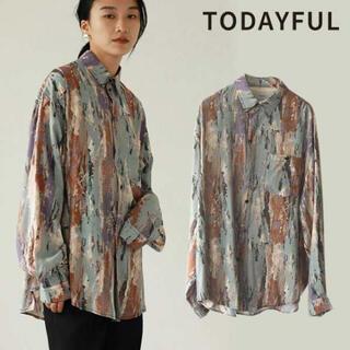 トゥデイフル(TODAYFUL)のTODAYFUL Paint Rough Shirts ペイント柄ラフシャツ(シャツ/ブラウス(長袖/七分))