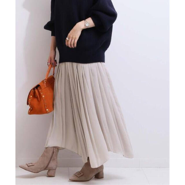 Noble(ノーブル)のNOBLE 【otona MUSE12月号掲載】アシンメトリープリーツスカート レディースのスカート(ロングスカート)の商品写真