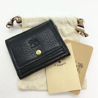 IL BISONTE - 【新品未使用】イルビゾンテ 三つ折り コンパクト 財布  NERO  ブラック