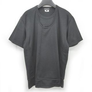 COMME des GARCONS HOMME PLUS - コムデギャルソンオムプリュス 20AW ダブル レイヤー Tシャツ 半袖 黒 M