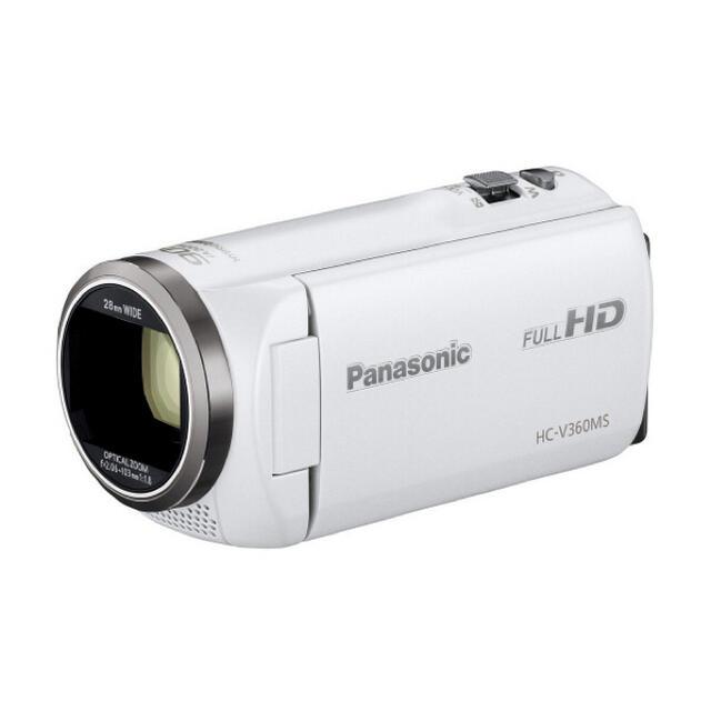 Panasonic(パナソニック)のパナソニック HC-V360MS-W ホワイト スマホ/家電/カメラのカメラ(ビデオカメラ)の商品写真