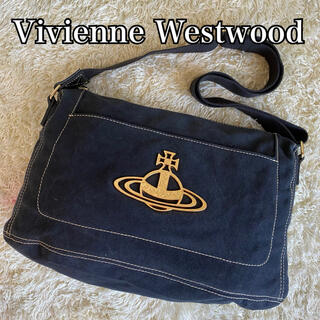 ヴィヴィアンウエストウッド(Vivienne Westwood)の美品 ヴィヴィアンウエストウッド ショルダーバッグ エッジ オーブ キャンバス(ショルダーバッグ)
