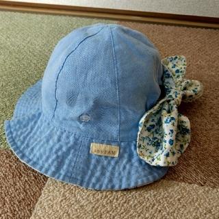エニィファム(anyFAM)のanyFAM 48cm ベビー帽子 リバーシブル 日除け付(帽子)