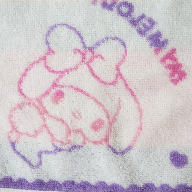 マイメロディ(マイメロディ)のマイメロ・ハンドタオル (難あり) エンタメ/ホビーのアニメグッズ(タオル)の商品写真