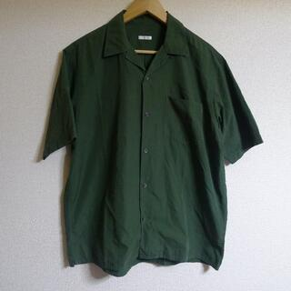 コモリ(COMOLI)のCOMOLI オープンカラーシャツ I01-02005 グリーン(シャツ)