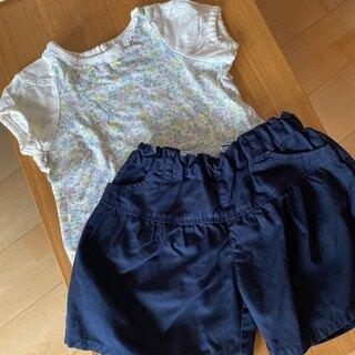 ムジルシリョウヒン(MUJI (無印良品))のMUJIショートパンツ&seraphシャツ(Tシャツ/カットソー)