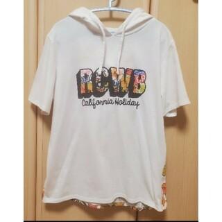 ロデオクラウンズワイドボウル(RODEO CROWNS WIDE BOWL)のUSED ロデオクラウンズ RCWB フード付き半袖Tシャツ(Tシャツ(半袖/袖なし))