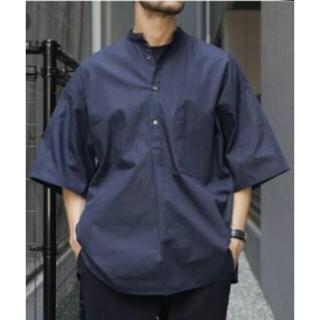 コモリ(COMOLI)のグラフペーパー バンドカラー半袖シャツ(シャツ)