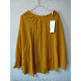 テチチ(Techichi)のTe chichi テチチ マスタード色 フレアスカート Mサイズ(2)(ひざ丈スカート)