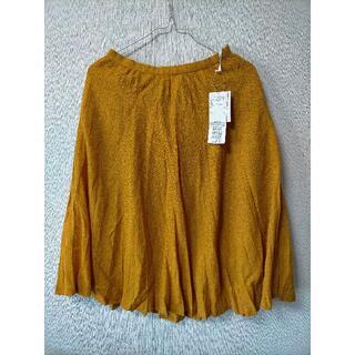 テチチ(Techichi)のTe chichi テチチ マスタード色 フレアスカート Mサイズ(3)(ひざ丈スカート)