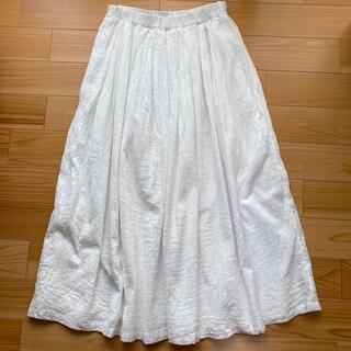 ムジルシリョウヒン(MUJI (無印良品))の無印良品 綿100% 白ロングスカート(ロングスカート)