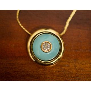 GIVENCHY - GIVENCHY ターコイズブルー ゴールド ネックレス